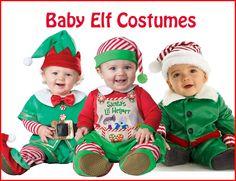 These Baby Elf Costumes are perfect for Santa's little helper! http://halloweenideasforwomen.com/christmas-elf-costume/
