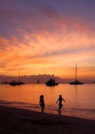 #sunset #beach #kids