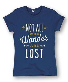 This Navy 'Wander Lost' Tee is perfect! #zulilyfinds