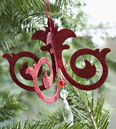Die Cut or Paper punch Ornament~ add hanging beads or crystals.