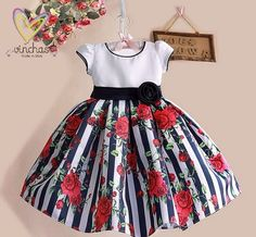 Cheap dress for your figure, Buy Quality dresse directly from China dress read Suppliers: New Summer Baby Girls Floral Dress with cap European Style Designer Bow Children Dresses Kids Clothes - Kids' Clothing Little Girl Dresses, Girls Dresses, Flower Girl Dresses, Baby Dresses, Dress Girl, Flower Girls, Dress Outfits, Kids Outfits, Girls Black Dress