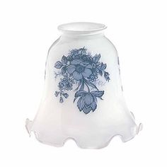 """Glass #Lamp #Shade White Tulip 4.5""""H x 2.25"""" Fitter # 18181 Shop --> http://www.rensup.com/Lamp-Shade/Lamp-Shades-Glass-Lamp-Shade-4-1-by-2-inch-H-2-1-by-4-inch-Fitter/pd/18181.htm?CFID=2637774&CFTOKEN=f4873a85f8a007c8-FEA26157-B9A2-0D4D-453227B9EC730E20"""