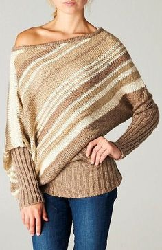Liz Sweater in Layers of Mocha ♥ - This is super cute. I would love a sweater like this.