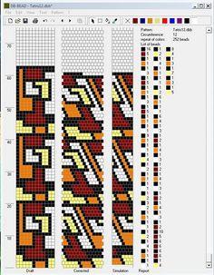 Галерея вязанных жгутиков-шнуриков и узоры к ним   biser.info - всё о бисере и бисерном творчестве