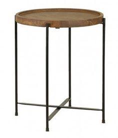 Salitre sivupöytä 40x45 cm puu/metalli, Roomlight