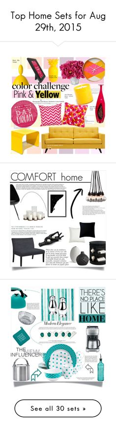 """""""Top Home Sets for Aug 29th, 2015"""" by polyvore ❤ liked on Polyvore featuring interior, interiors, interior design, home, home decor, interior decorating, Hedi Slimane, Simple by Design, Dot & Bo and Taylor Marie Studio"""