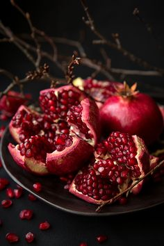 pomegranate food photography