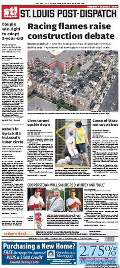 St. Louis Post-Dispatch July 19, 2012  #STL #newspapers