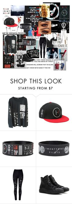 """""""Not today"""" by h713 ❤ liked on Polyvore featuring WithChic and Converse"""