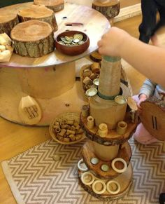 Loose parts play by Little Miss Early Years Forest School Activities, Activities For Kids, Preschool Ideas, Home Corner Ideas Early Years, Curiosity Approach Eyfs, Early Years Practitioner, Heuristic Play, Eyfs Classroom, Continuous Provision