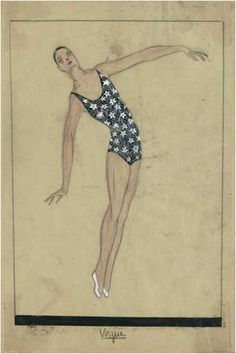 Vogue, Summer 1924 Swimsuit by Jeanne Lanvin