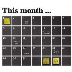 Idée diy semaine ou mois: Tableau noir magnétique  Jour peint en blanc au pochoir Stock de magnets custo quoi? (Resto, dentiste, shopping...) + magnets custo qui?
