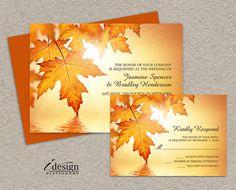 Invitations de mariage de l'automne et RSVP par iDesignStationery