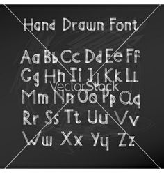 Hand drawn alphabet vector by woodhouse84 on VectorStock®