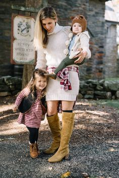 The perfect fall look --> OTK Boots from @dswshoelovers  & a sweater dress!  #myDSW #sponsored