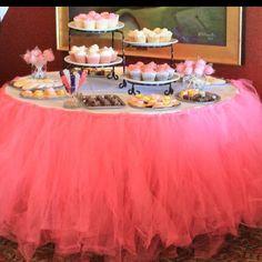 Tutu table skirt for baby shower