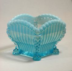Northwood Glass Blue Opalescent Alaska Glass by BoudreauCollection, $65.00