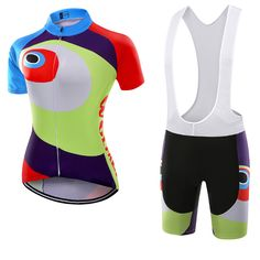 Wolfkei Mountain bike Cycling Jersey Bib Shorts kit for women Ropa Ciclismo bicicletas maillot ciclismo Breathable Sportswear Cycling Outfit, Cycling Clothing, Women's Cycling Jersey, Jersey Shorts, Sportswear, Tights, Bicycle, Quick Dry, How To Wear