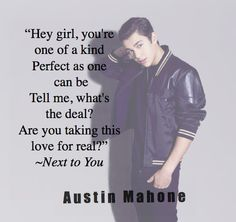 Austin Mahone Lyrics are so perfect