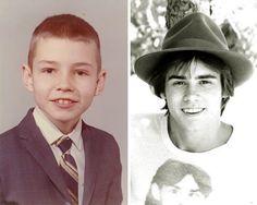 13.Jim Carrey em duas fases da vida