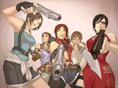 Resident Evil - Jill Vlaentine, Sheva Alomar, Claire Redfield, Rebecca Chambers, Ada Wong