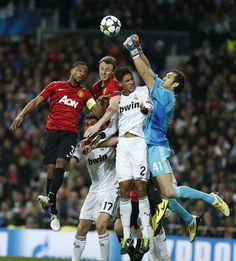 Arbeloa, Varane, Diego López - 20130213 - UEFA Champions League -Real Madrid vs. Manchester United