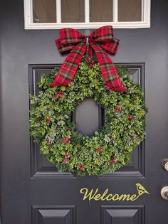 Front Door Wreath. Winter Wreath. Holiday Wreath.