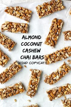 Homemade KIND Bars rival the version of the oh so good, but hard to come by, Almond Cashew Coconut Chai KIND Bars! These bars are so tasty, good for you, and come together easily and quickly, a perfect daily snack!