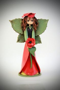January Poppy fairy