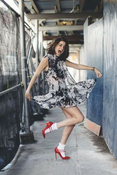 Leave it up to Leandra Medine to look stupid and stylish at the same time. | Doily Socks | Man Repeller