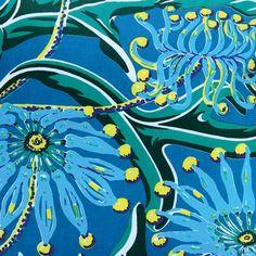 Utopia Goods - Firewheel - Ocean Poplin Fabric, Ocean, Cotton, Painting, Aussies, Design, Art, Wallpaper, Living Room
