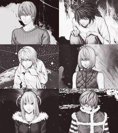 Light, L, Mello, Near, Misa, and Matt _Death Note Death Note Anime, Death Note デスノート, Tsugumi Ohba, Nate River, Detective, Fanart, L Lawliet, Light Yagami, Character Art