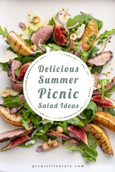 Best Salad Recipes, Best Vegetarian Recipes, Lunch Recipes, Delicious Recipes, Summer Picnic Salads, Best Summer Salads, Picnic Menu, Picnic Foods, Spicy Appetizers
