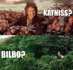 -Katniss? -Bilbo?