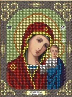 Virgin Mary Kazanska orthodox icon beaded embroidery beading kit DIY