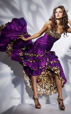 purple and leopard print LOVE IT!! Where was this when I had proms to go to!?!?