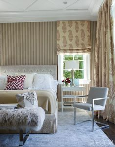 From sheer to silk, drapery adds the finishing touch to these soothing rooms.