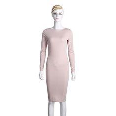 Bodycon Sheath Dress Long Sleeve Party Sexy Dresses Women Clothing Back Full Zipper Robe Sexy Pencil Tight Dress Vestidos #Affiliate