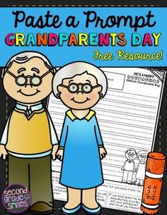Grandparents Day Paste a Prompt (Writing Prompt) Freebie!  Grandparents Day is Sept. 13!