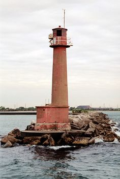 Buffington Harbor Breakwater #Lighthouse, #Indiana at Lighthousefriends.com http://www.roanokemyhomesweethome.com