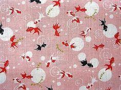 Japan fabric summer kingyou golden fish