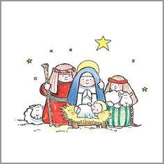 Timbre de Madera - Pesebre de Navidad