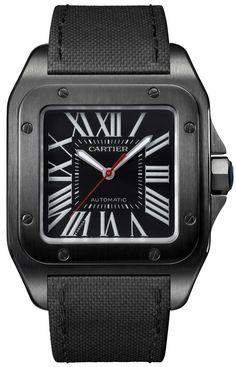 Cartier Santos 100 Carbon & Ballon Bleu De Cartier Carbon Watches Watch Releases