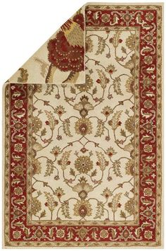 RugStudio presents Capel Reversibles 43967 Red Hand-Tufted, Best Quality Area Rug