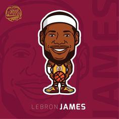 LeBron James #lebron #james #lebronjames #king #kingjames #cavaliers #cleveland #nba #basketball #comic #cartoon #vector #tommilerart