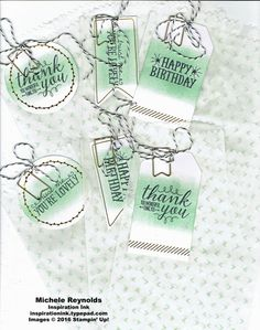 Handmade gift bags using Stampin' Up! products - You're So Lovely Photopolymer Stamp Set and You're So Lovely Project Kit.  By Michele Reynolds, Inspiration Ink.  #stampinup #inspirationink #youresolovely