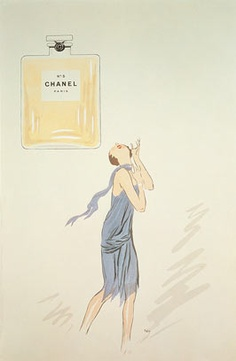 Tribute to the perfume CHANEL  by the cartoonist Sem in 1921