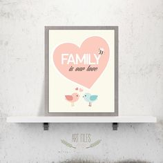 Nursery quote print Printable Wall Art Family is by ArtFilesVicky, €3.78