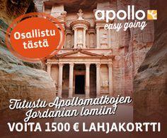 Voita 1 500 € matkalahjakortti http://www.rantapallo.fi/lumoava-jordania/