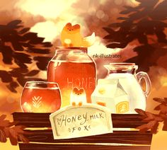 aoba johcry, nk-illustrates: Honey Milk Fox.